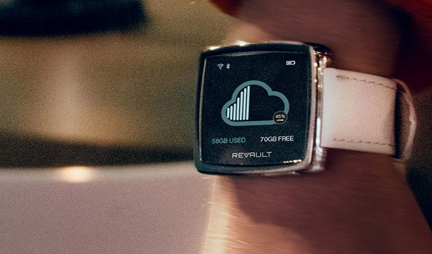 This smartwatch doubles as a wearable wireless storage