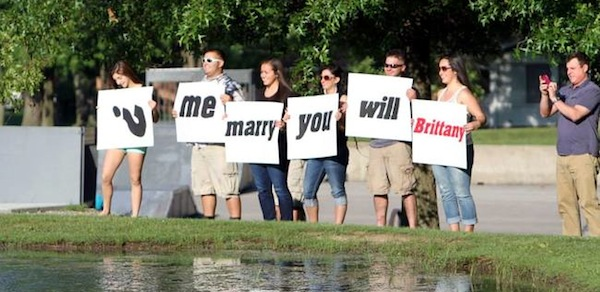 Marriage proposal fails 2014 nba