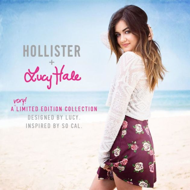 Hollister taps Lucy Hale of Pretty Little Liars for first celeb collaboration