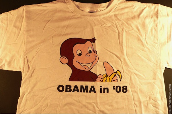 racist republican shirts, most racist republican t-shirts, curious george obama shirt