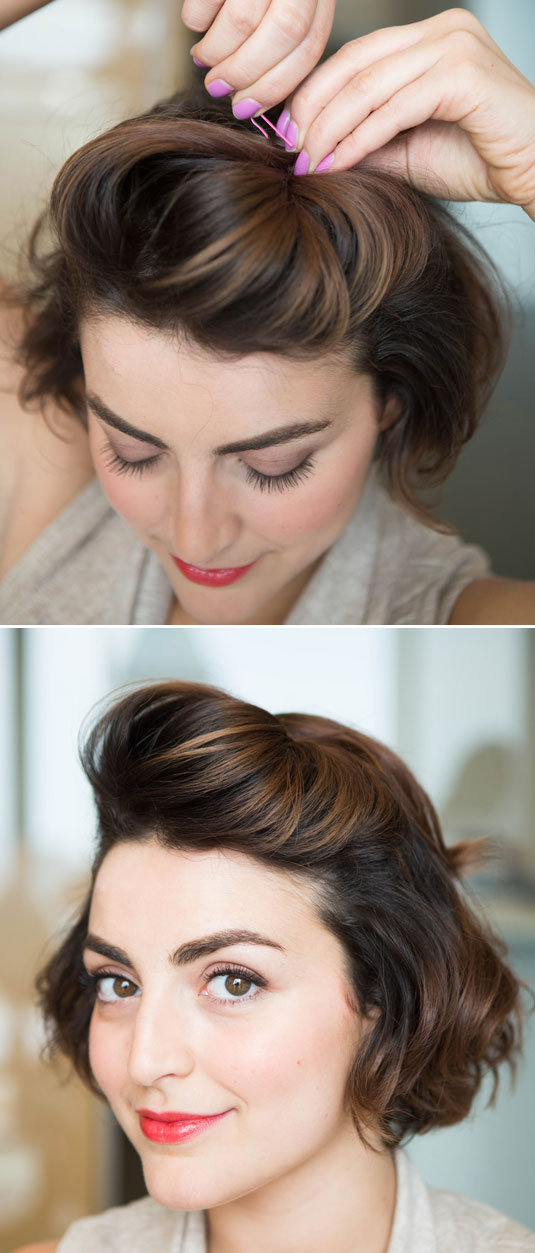 pompadour for women how to