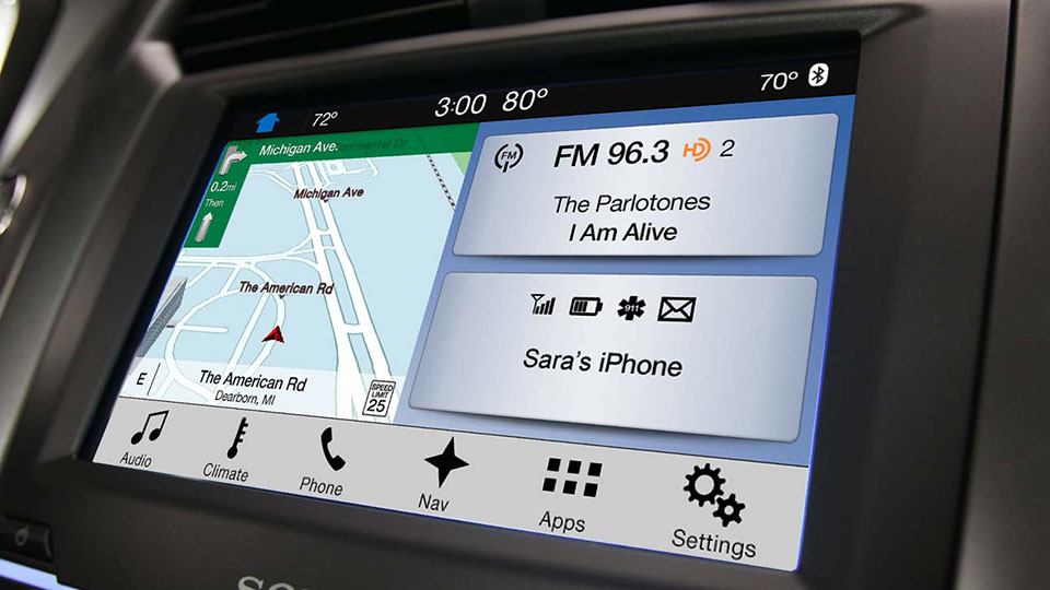 Ford's revamped SYNC infotainment system is built for speed