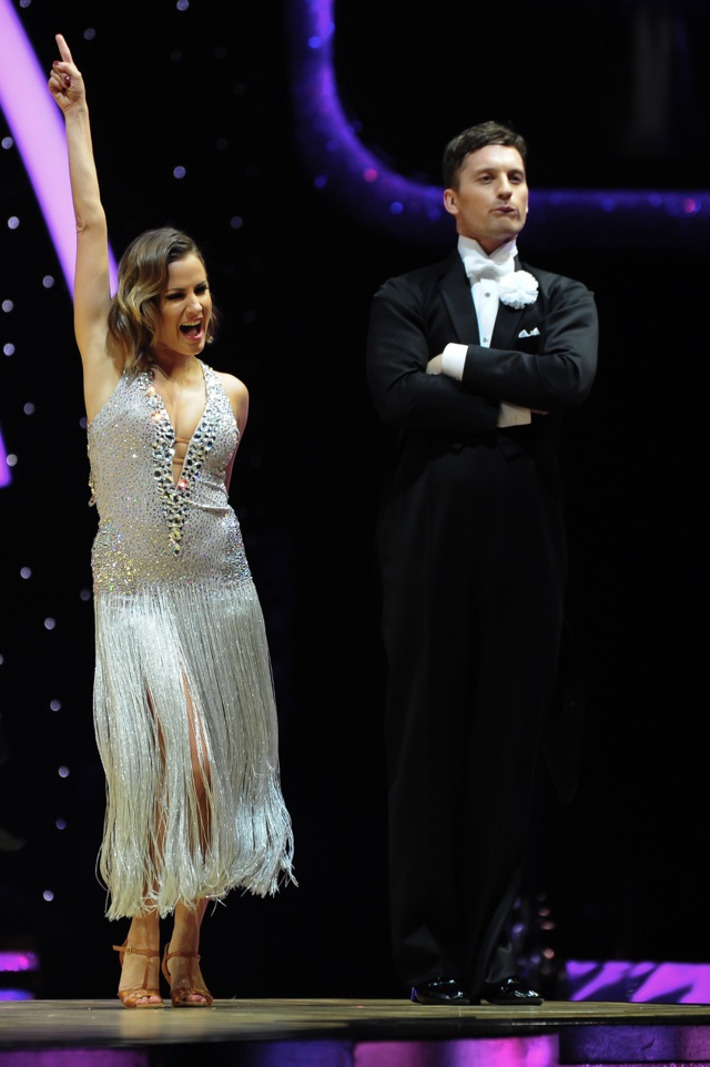 Caroline Flack shimmers in silver as she kicks off Strictly Come Dancing tour