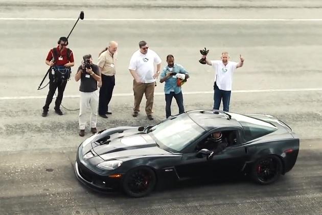 【ビデオ】電気自動車仕様の「コルベット」が最高速度300km/hを記録!