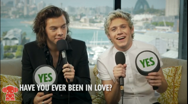 niall horan harry styles yes no game video