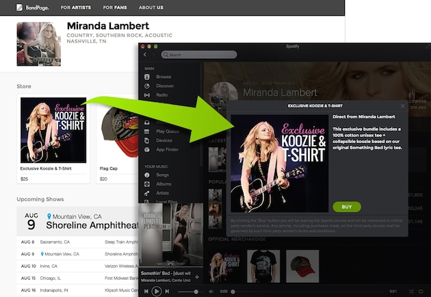 Spotify wants to help musicians sell stuff directly to fans