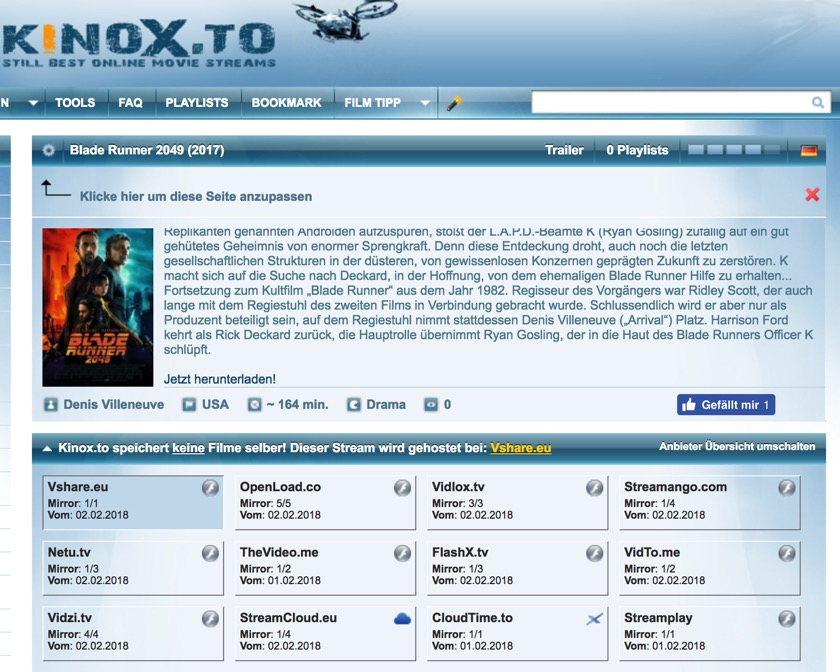 Kinox.to über Vodafone nicht mehr zu erreichen