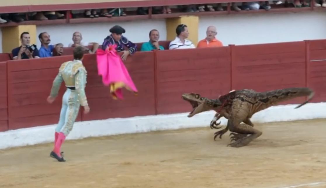 Torero vs. Baby-T-Rex: VFX-Spaß mit Botschaft
