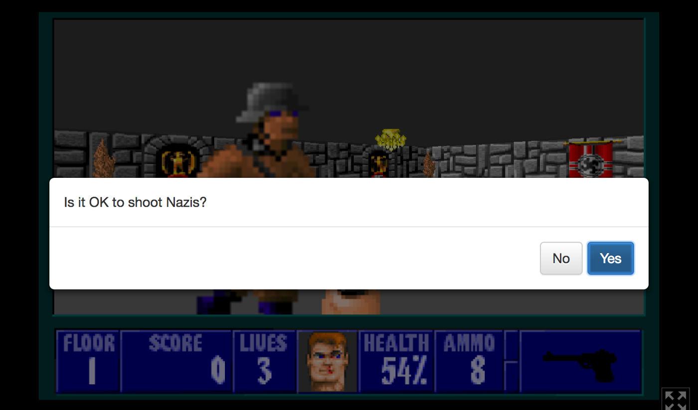 Esta versión del Wolfenstein pone a prueba tu moral: ¿está bien disparar a un nazi?