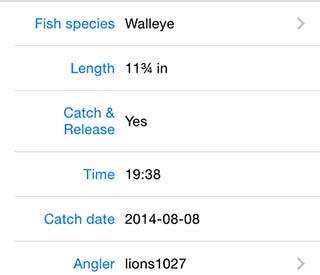 FishBrain Fishing Reports screen shot
