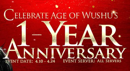 Age of Wushu anniversary