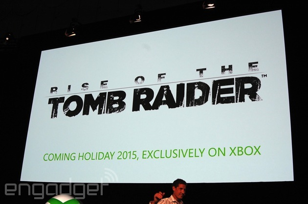 'Rise of the Tomb Raider' is a 2015 exclusive for Xbox One