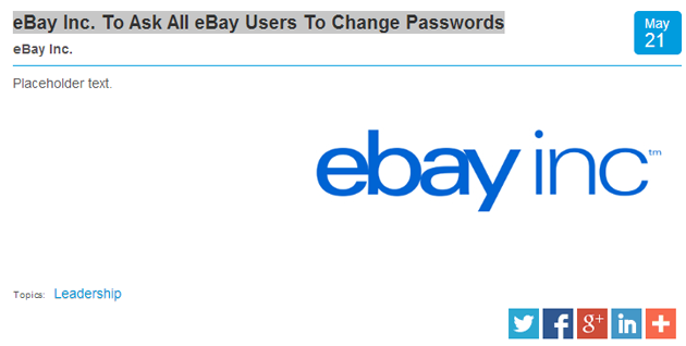 PayPal password request screenshot