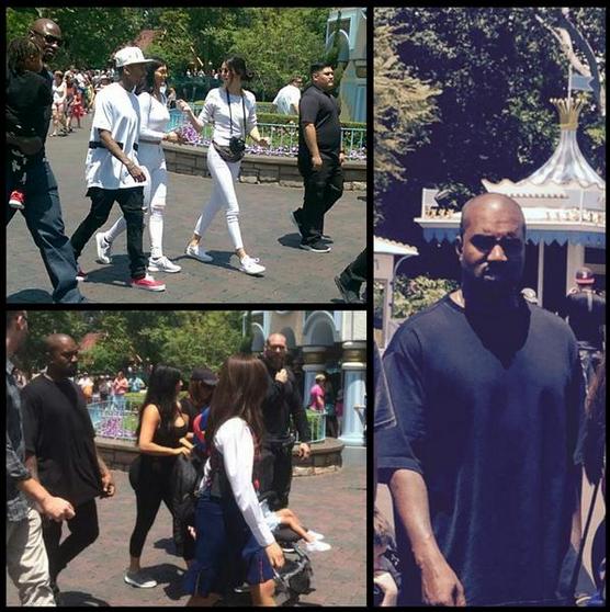Kanye West Kim Kardashian Tyga Kylie Jenner Disneyland