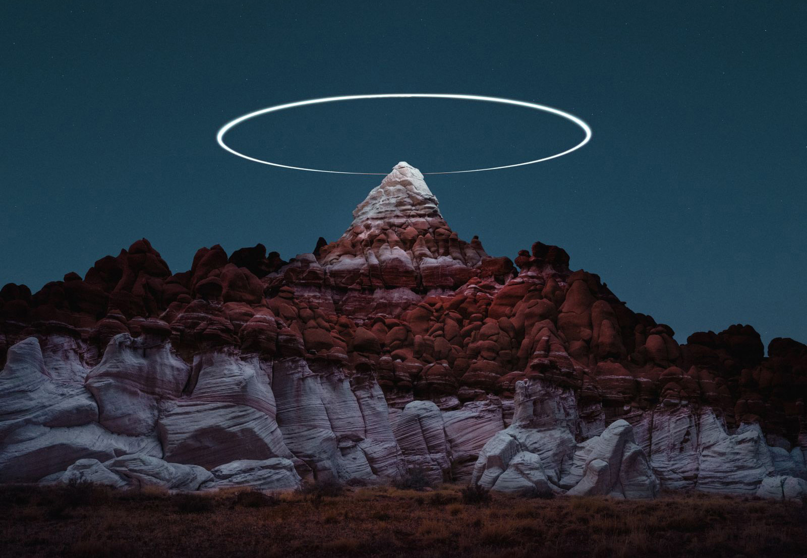 Drones add eerie halos to landscape photos in 'Lux Noctis'