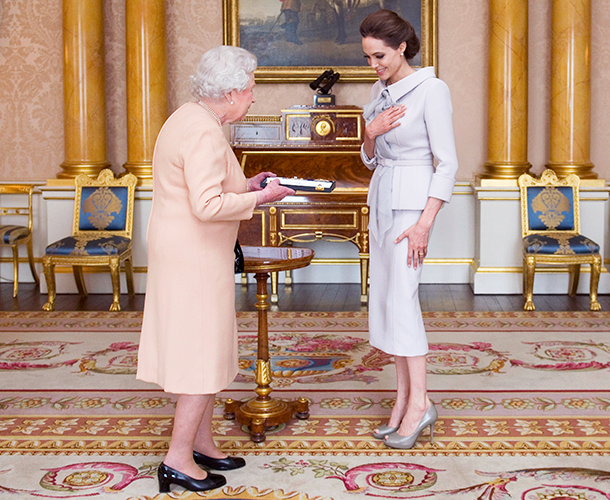 Angelina Jolie meets Queen Elizabeth