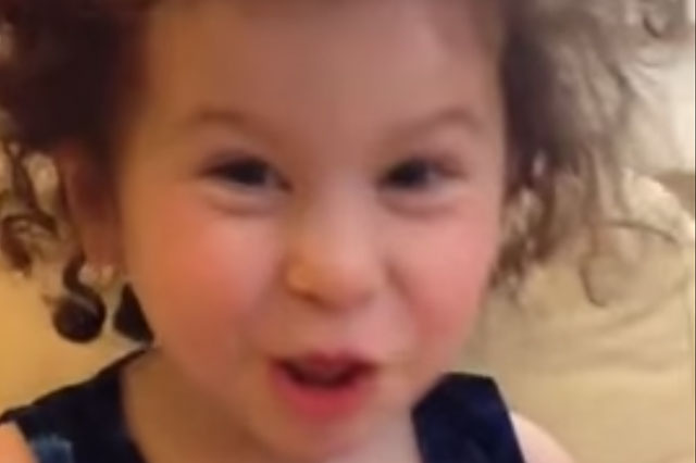 Toddler's funny wedding speech takes a dark turn
