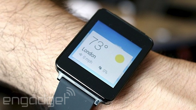 LG G Watch running Android Wear