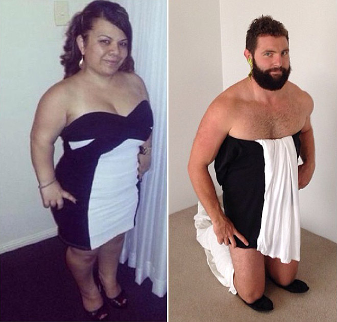 Guy Recreates Girl Tinder Profile Pics