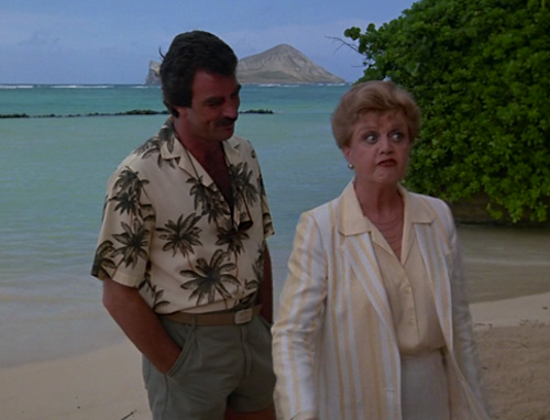 Was Tom Selleck Constantly Hiding An Erection On Magnum, P.I.?, tom selleck with angela landsbury