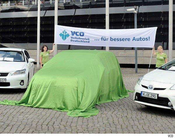 2014, auris, Bivalent, BMW, BMW i3, breaking, das umweltfreundlichste Auto, Green car, Hybrid, Top 10, Top Ten, Toyota, umweltfreundlich, yaris, Umweltliste, VCD,  CO2, Hybrid, Klima, sauber, Schadstoffausstoß, Top 10, Top ten, Top10, TopTen, Toyota, Umwelt. emission, Umwelt.Emission, VCD, Verkehrsclub Deutschland, VerkehrsclubDeutschland, Lexus CT 200H, umweltliste 2014