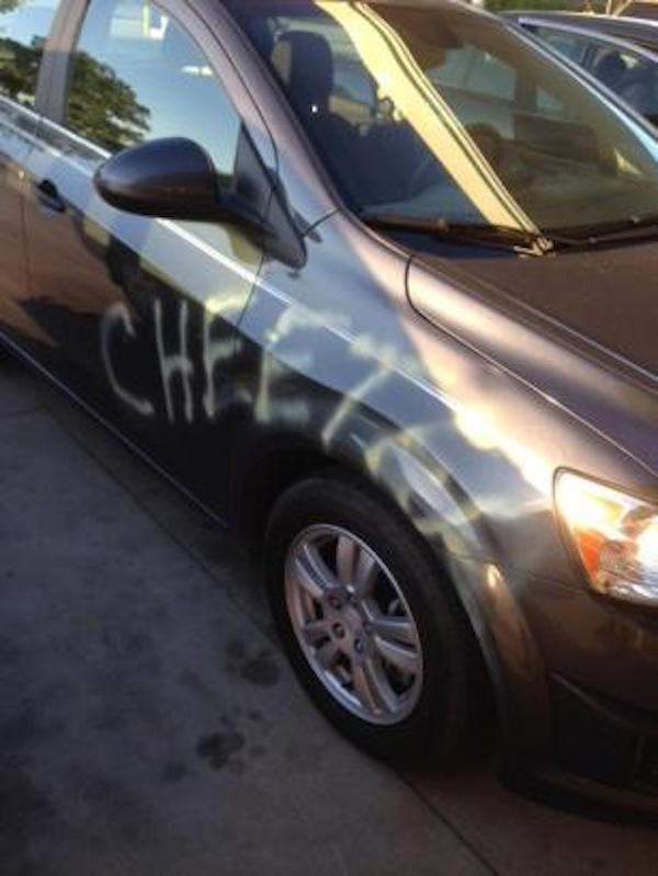 South Carolina Man Misspells 'Cheater' On Girlfriend's Car, Gets Arrested