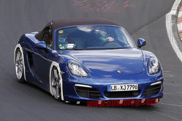 Porsche Boxster four-cylinder test mule