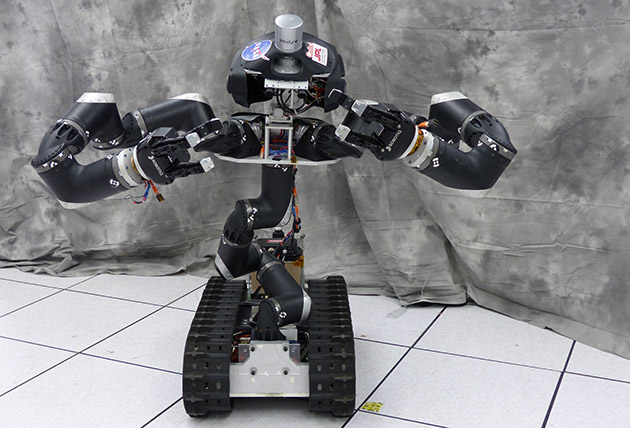 Surge the rescue robot is RoboSimian's more human-like sibling