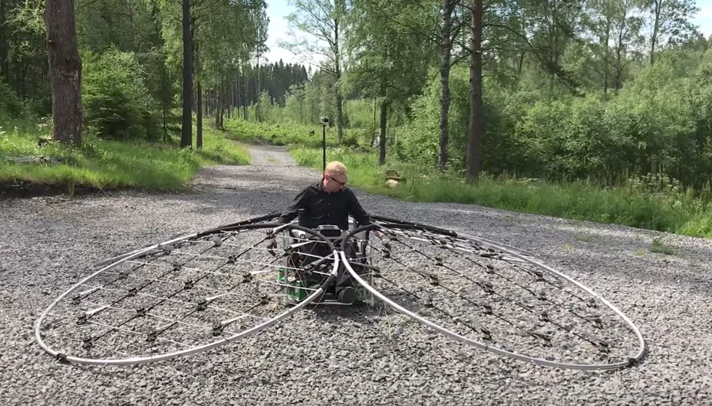 chAIR: Eine-Person-Drohne mit faszinierendem Antrieb