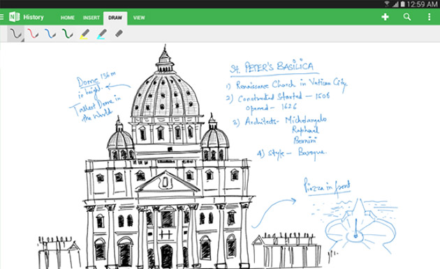 Microsoft optimizes OneNote for Android tablets, adds handwriting support