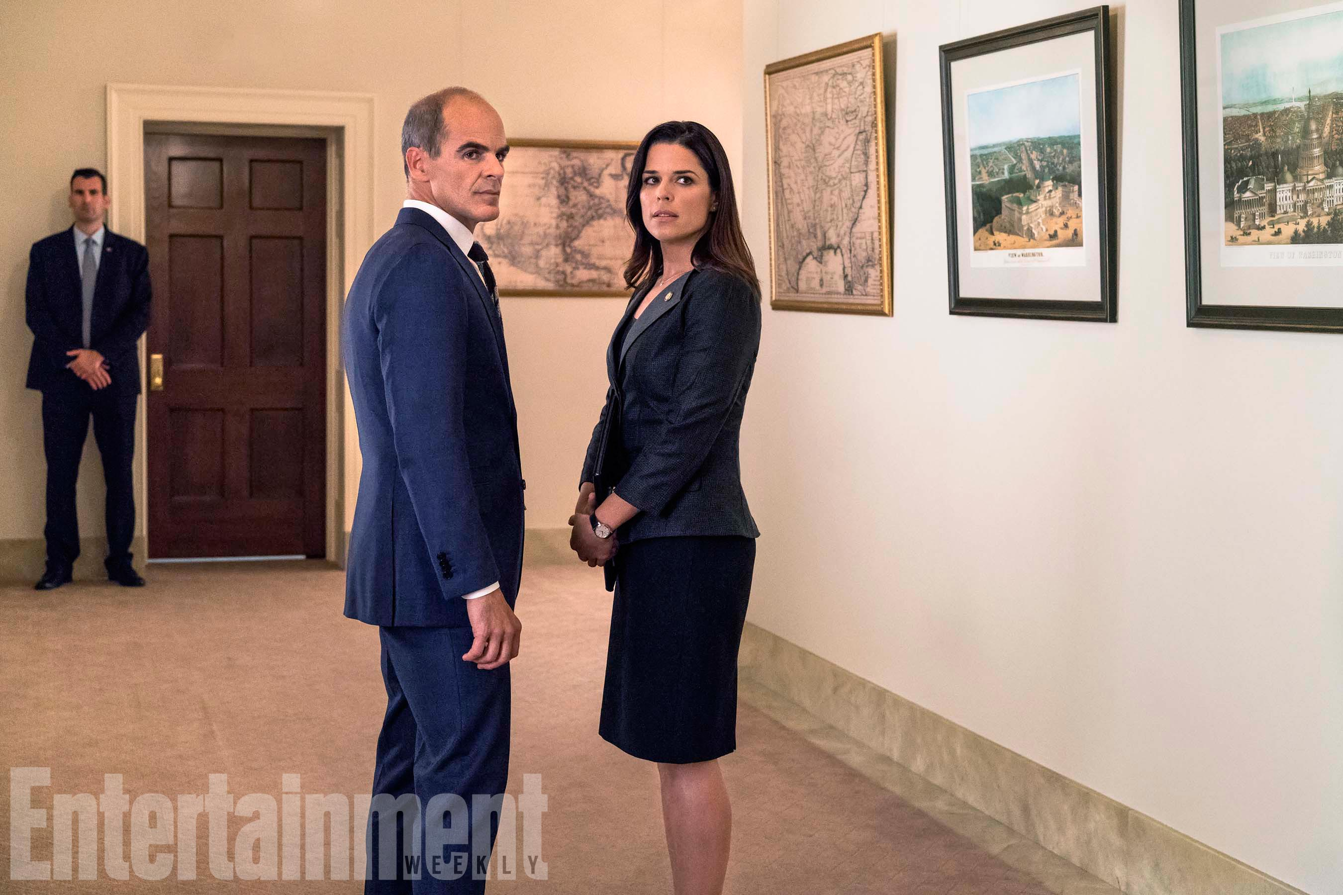 House Of Cards Season 5Pictured from left: Michael Kelly as Doug Stamper, Neve Campbell as LeAnn Harvey