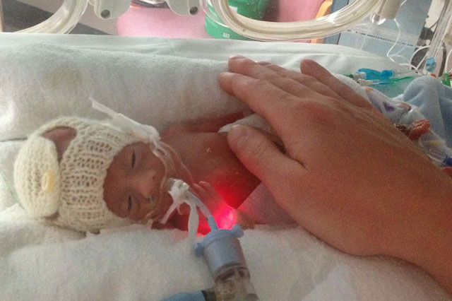 Mum woke from three-day seizure to discover she'd given birth to a 1lb baby boy