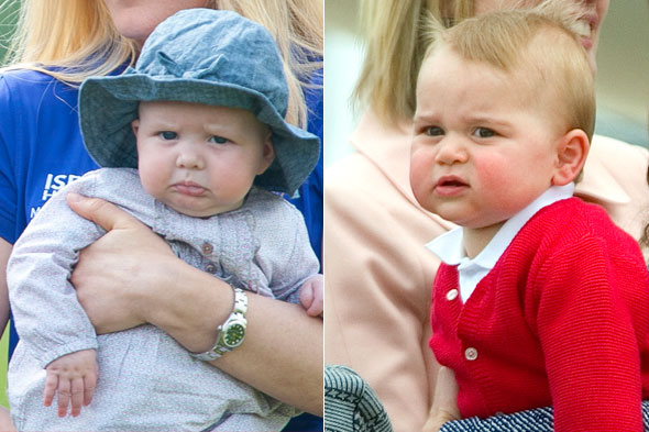Prince George meets baby Mia Phillips for the first time - and it's 'carnage'!