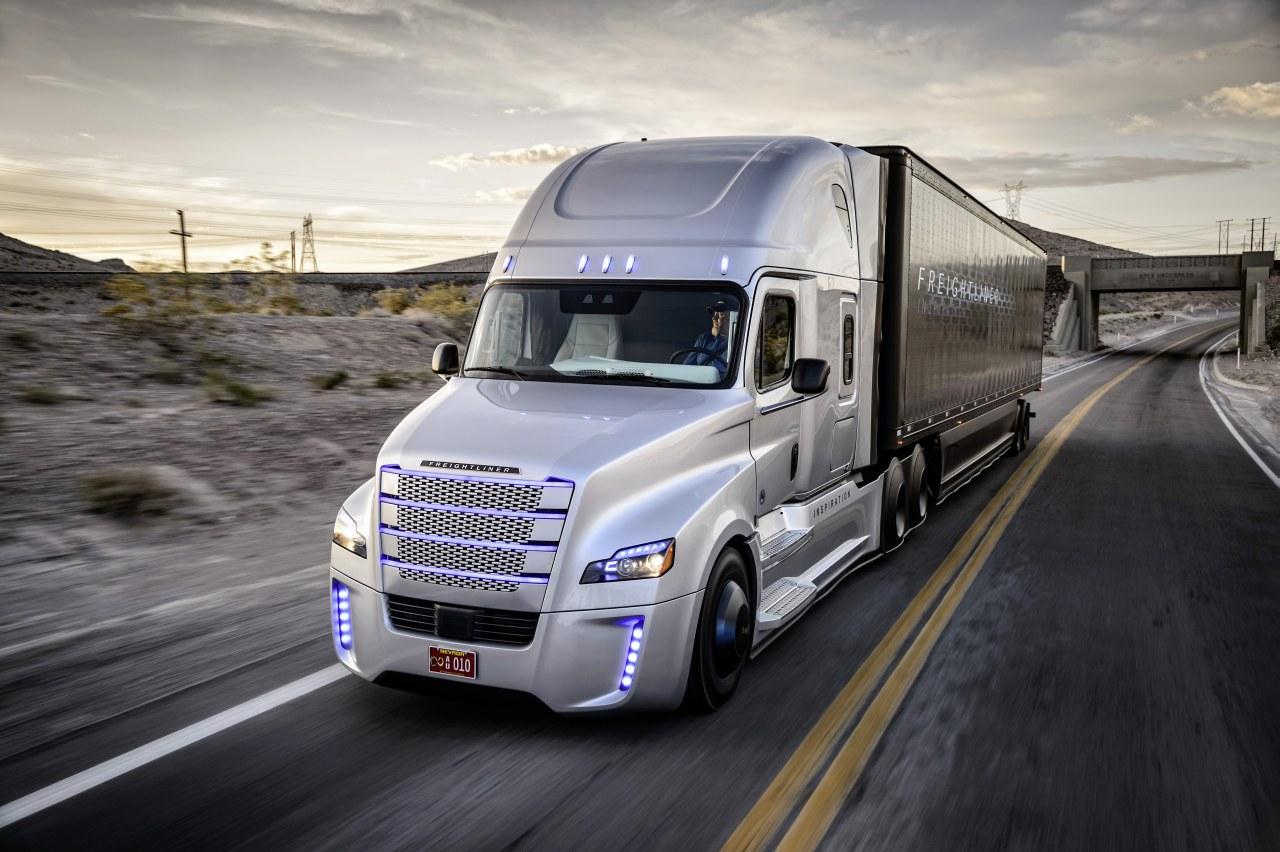 Freightliner inspiration truck, Marken, selbstfahrener Lkw, Daimler Trucks, autonomes fahren,  nevada