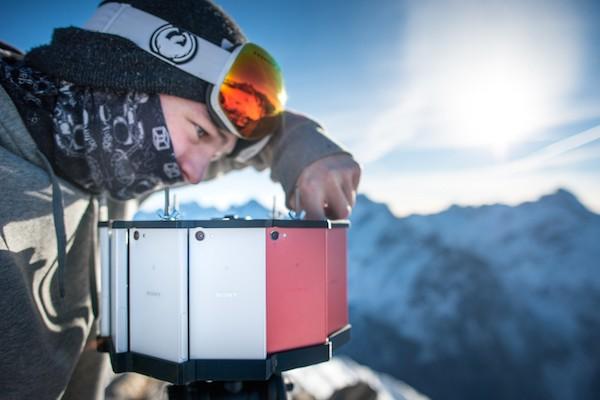 Läuft: 360-Grad-Kamera aus zwölf Xperia Z5 Compact