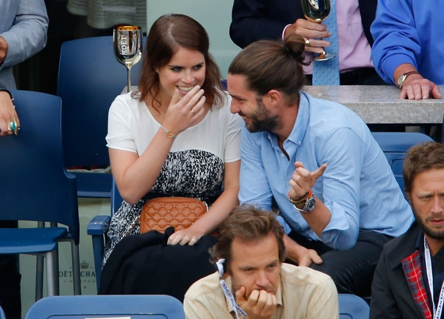 Princess Eugenie spotted sipping Champagne with businessman at US Open
