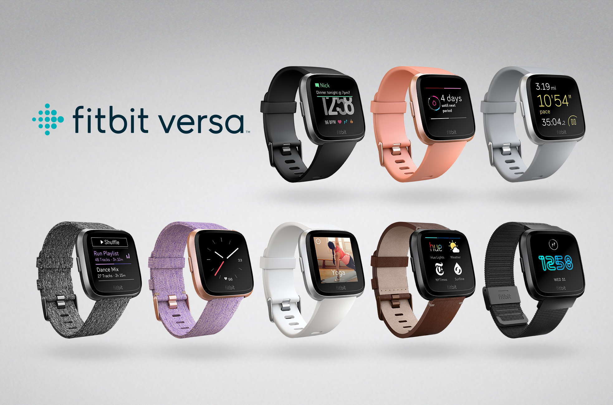 Product family image of Fitbit Versa Family with Screens