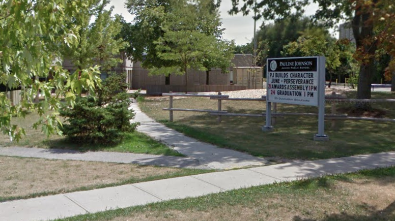 Google Maps                   Pauline Johnson Junior Public School where an 11-year-old girl was headed Friday when she was allegedly attacked