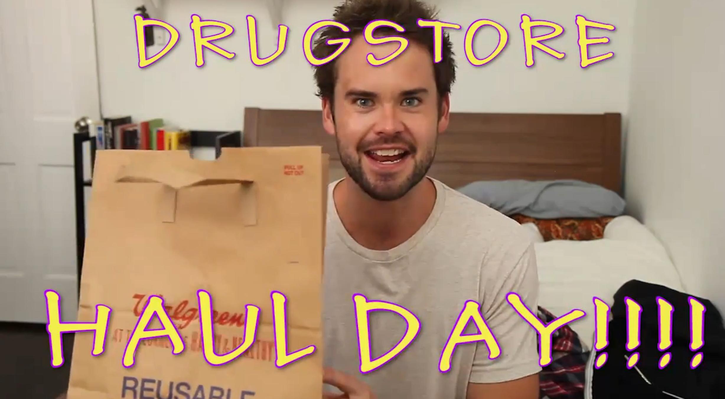 What if guys made girls' haul shopping videos?