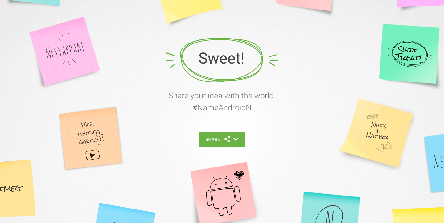 Everything's 'sweet' on Android N naming site