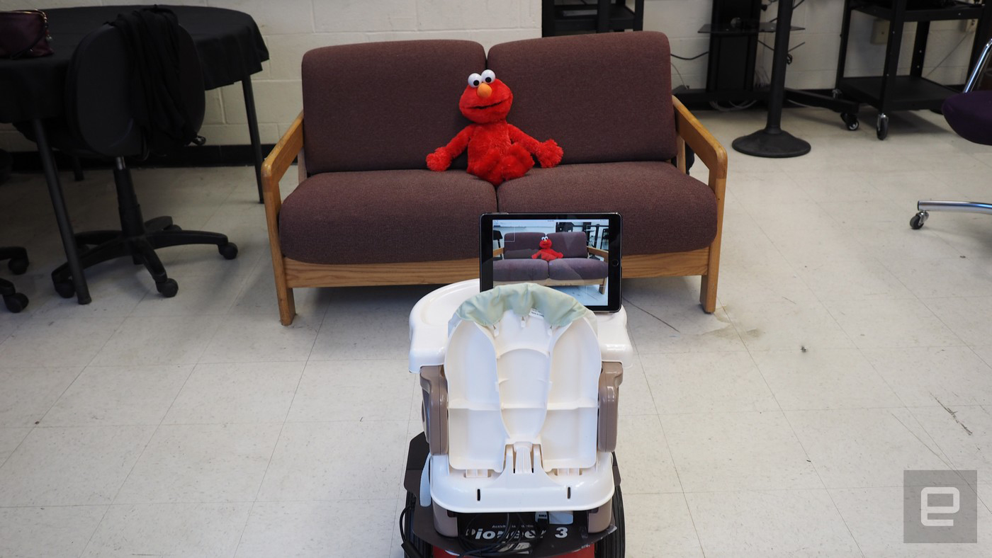 photo image Tot Bot helps physically disabled toddlers explore