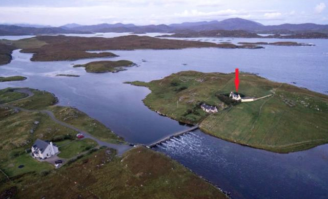House for sale on remote scottish island accessed only by - House with swimming pool for sale scotland ...