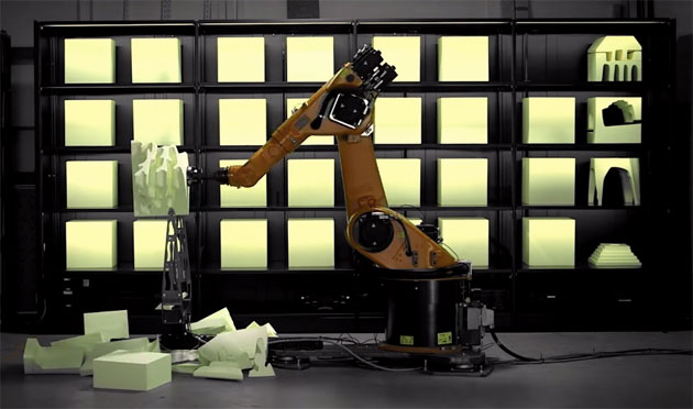 Make your polystyrene design dreams come true with this industrial robot arm