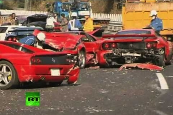 world records of idiocy, 4.1 million dollar car wreck
