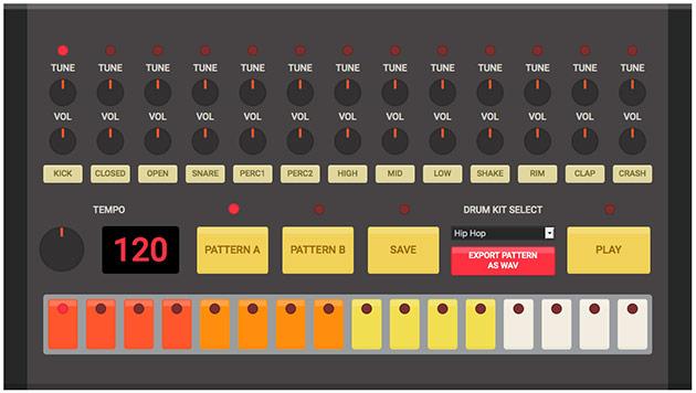 html5 drum machine