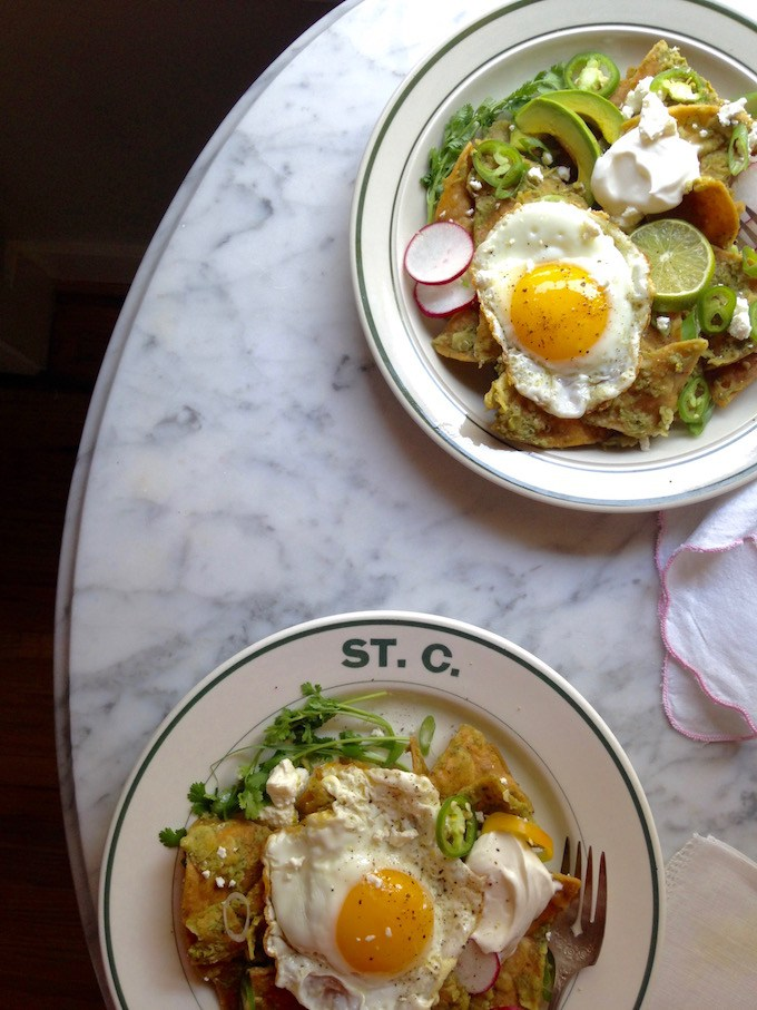 Green chilaquiles with fried eggs - AOL Food