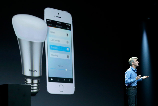 Craig Federighi talks about HomeKit at Apple's WWDC 2014 event