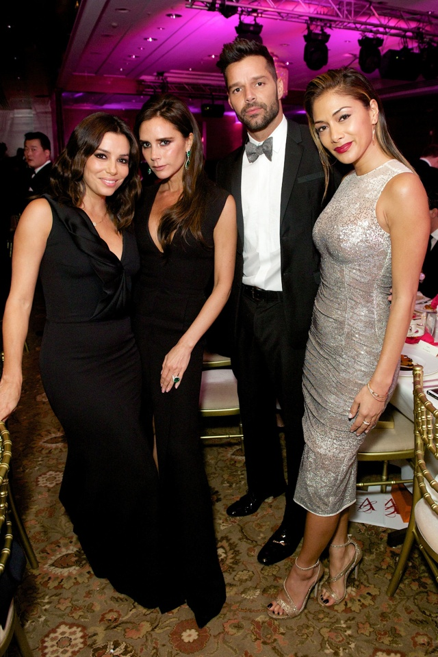Victoria Beckham and Eva Longoria are fashion twins at Global Gift Gala