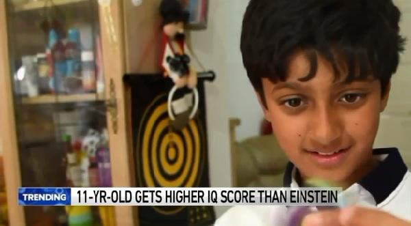 11歳の少年がアインシュタインを超えるIQ値を獲得