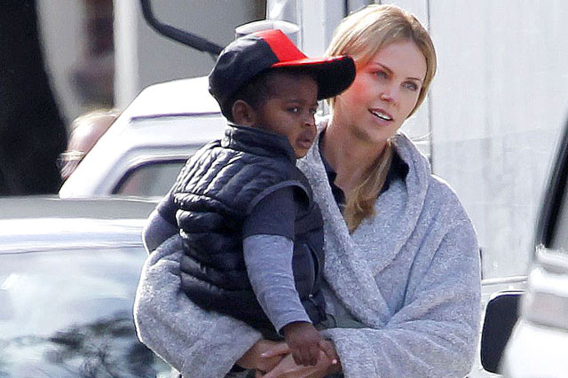 Charlize Theron and son Jackson